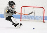 on ice hockey kid
